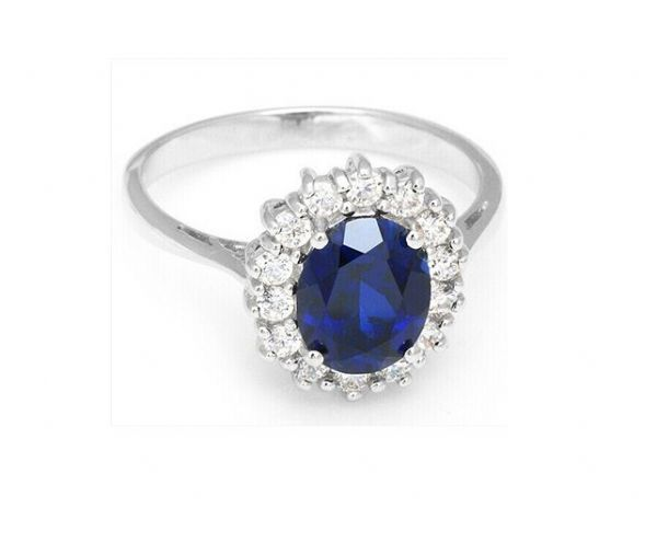Kate Middleton Inspired Blue Sapphire Ring